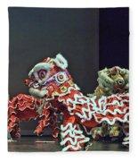 The Lion Dance Camarillo  Fleece Blanket