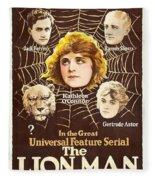 The Lion Man 1919 Fleece Blanket