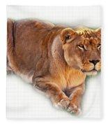 The Lioness - Vignette Fleece Blanket