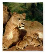 The Lions At Home Fleece Blanket