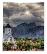 The Little Church  Fleece Blanket