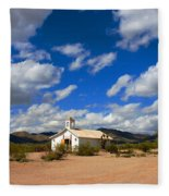 The Little Country Church Fleece Blanket
