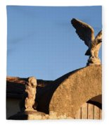 The Little Lion And The Soaring Eagle Who Watches Over Him Fleece Blanket
