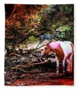 The Little Pink Unicorn By Pedro Cardona Fleece Blanket