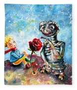 The Little Prince And E.t. Fleece Blanket