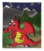 The Little Red Dragon Fleece Blanket
