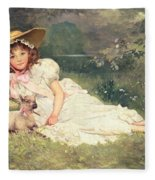 The Little Shepherdess Fleece Blanket