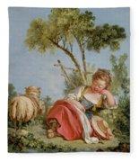 The Little Shepherdess Fleece Blanket