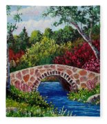 The Little Stone Bridge Fleece Blanket