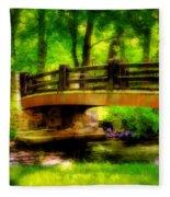 The Little Stone Bridge Fleece Blanket