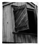 The Loft Door In Black And White Fleece Blanket