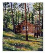 The Log Cabin Fleece Blanket