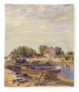 The Loing At Saint Mammes 1885 Fleece Blanket
