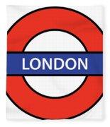 The London Underground Fleece Blanket