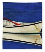 The Lone Boat Fleece Blanket