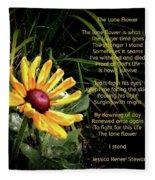 The Lone Flower Fleece Blanket