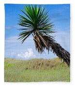 The Lone Yucca Fleece Blanket