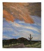 The Lonely Road Fleece Blanket