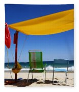 The Lonely Sea And The Sky Fleece Blanket