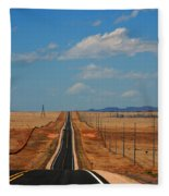 The Long Road To Santa Fe Fleece Blanket