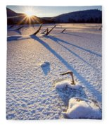The Long Shadows Of Winter Fleece Blanket