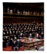 The Lord Chancellor About To Put The Question In The Debate About Home Rule In The House Of Lords Fleece Blanket