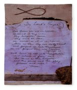 The Lord's Prayer Collage Fleece Blanket
