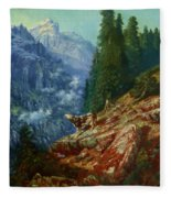 The Lost Cow 1852 Fleece Blanket