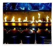 The Lounge Fireplace Fleece Blanket