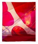 Hearts A' Fire - The Love Hot Air Balloon Fleece Blanket