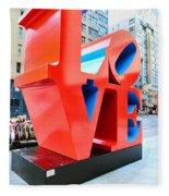 The Love Sculpture Fleece Blanket