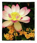 The Lovely Lotus Fleece Blanket