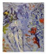 The Lovers In Blue Fleece Blanket