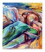 The Lovers Watercolor Fleece Blanket