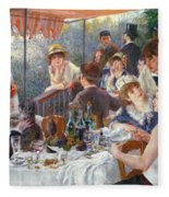 The Luncheon Of The Boating Party Fleece Blanket