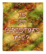 The Madness Of Christmas Card Fleece Blanket