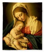 The Madonna And Child Fleece Blanket