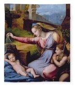 The Madonna Of The Veil Fleece Blanket
