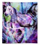 The Magic Of Horses Fleece Blanket