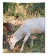 The Magical Deer 3 Fleece Blanket
