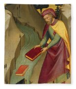 The Magus Hermogenes Casting His Magic Books Into The Water Fleece Blanket