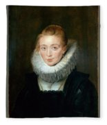 The Maid Of Honor To The Infanta Isabella Peter Paul Rubens Fleece Blanket
