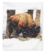The Majestic Bison Fleece Blanket