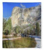 The Majestic El Capitan Yosemite National Park Fleece Blanket