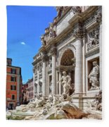 The Majesty Of The Trevi Fountain In Rome Fleece Blanket