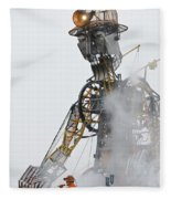 The Man Engine And His Man Fleece Blanket