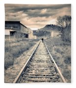 The Man On The Tracks Fleece Blanket