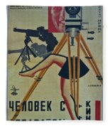 The Man With A Movie Camera Fleece Blanket
