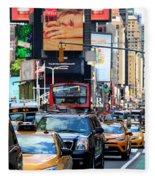 The Manhattan Morning Fleece Blanket