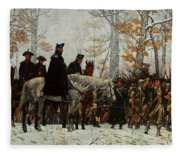 The March To Valley Forge, Dec 19, 1777 Fleece Blanket
